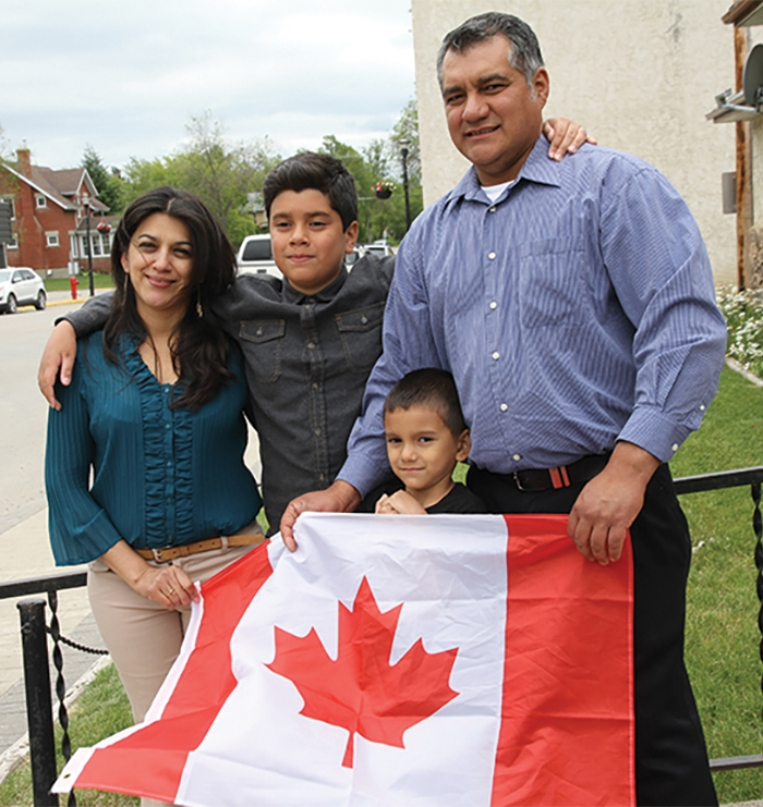 Moosomin's Santos family the day they were allowed to remain in Canada.