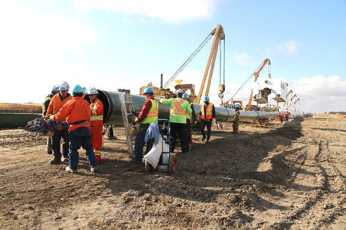 Kevin Weedmark took this photo of work on the Enbridge Line 3 replacement project in the Moosomin area.