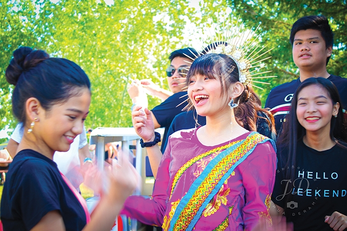 Nicole Rodriguez, left, Maui Catacutan, middle, Micaella Gonzales and Miguel Rodriguez, right, doing a Filipino dance at Moosomin Regional Park as part of the Filipino entertainment during the Living Skies Come Alive fireworks weekend on the August long weekend. With the Philippines being represented in the fireworks competition on the Sunday night, the local Filipino community used it as a chance to share their culture. Turn to pages 8-11 for more photos of the weekend.