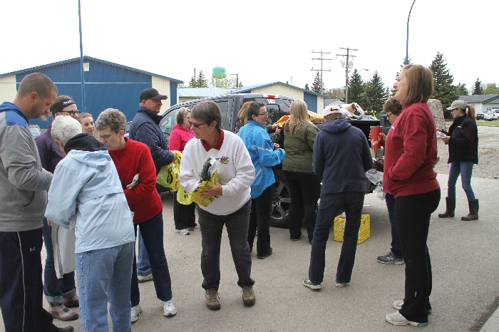 A scene from last year's town cleanup. So far 22 volunteers have signed up for this years cleanup coming up Sunday