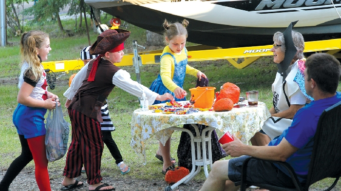 Trick-or-treating was held at Moosomin Lake in August
