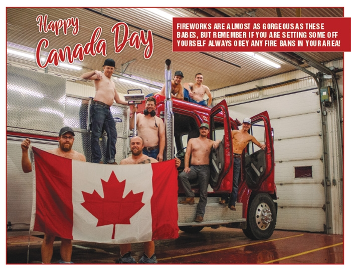 The July photo for the Rocanville Fire Department's 2020 calendar. The calendars are being sold as a fundraiser for the Rocanville Fire Department. The calendars are available from Decker's H20 and Spirits to Go in Rocanville and at the World-Spectator in Moosomin. The calendars were designed and printed at the World-Spectator.