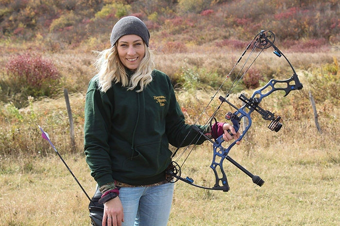 Spy Hill's Lacey Moore has won gold at the Canadian 3D Archery Championships for the second year in a row.