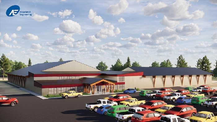 This digital rendering from Associated Engineering in Saskatoon show what the Dana Antal Arena upgrades will look like.