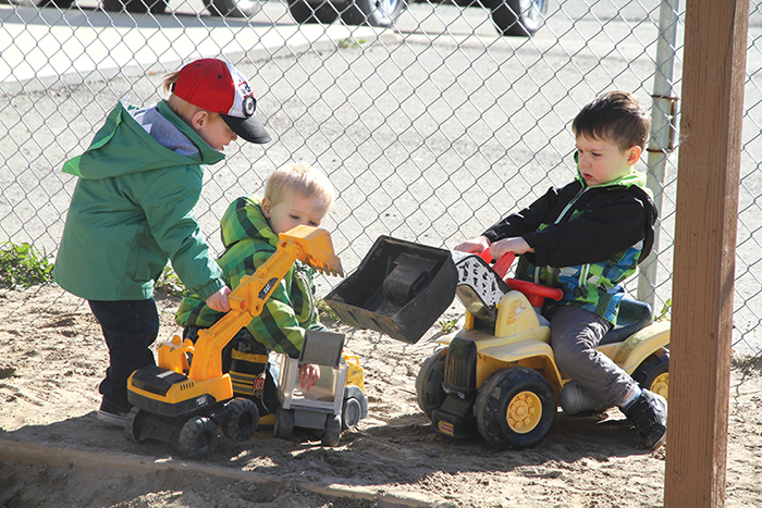 Children playing outside at Play Fair Daycare in Moosomin. Day cares are taxed inconsistently across the province of Saskatchewan.