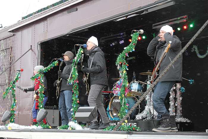 A scene from the last visit of the CP Holiday Train to Moosomin, in 2014