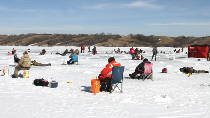 People fishing at last year's Kinsmen fishing derby.