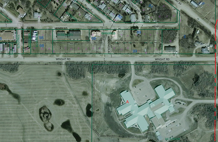 The town of Moosomin owns five lots immediately south of Kin Place, facing Wright Road. On Wednesday, council members discussed swapping two lots along Wright Road for property along Gordon Street, to allow a 12-unit condo development to proceed. The lot on Gordon Street had been rezoned to allow the condo development, but the town has concerns about sewer capacity on the west side of town.