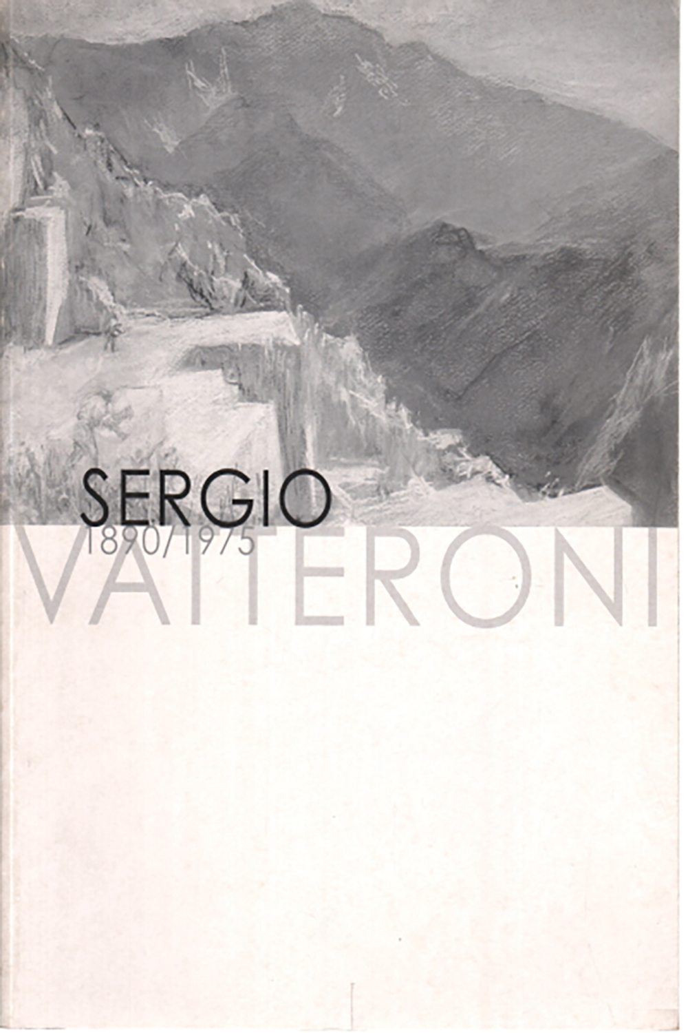 The cover of a book on the art of Sergio Vatteroni