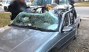 RCMP officers respond to reports of vehicle driving with roof ripped off