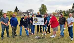 Sod turning held for new playground