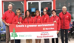 Home Hardware providing trees for SEICC