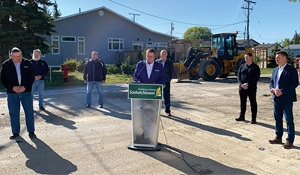 Scott Moe comes to Moosomin to announce MEEP funding