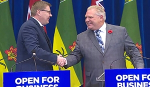 Moe, Ford discuss internal trade, carbon tax