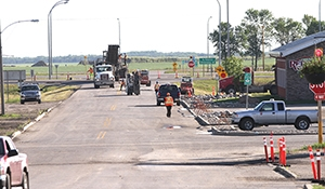 Main Street closed for repaving in Moosomin