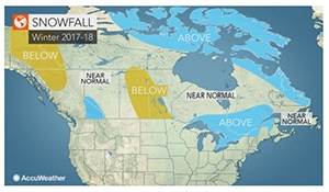 Accuweather says drier winter for eastern Prairies