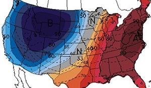 Below normal temperatures across western North America
