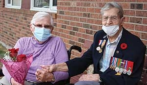100th birthday parade held in Virden for a D-Day Veteran