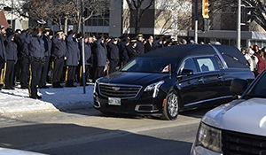 Regimental funeral for Cst Allan Poapst Friday