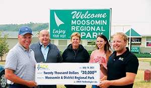 Donation helps upgrade camping spots at Moosomin Lake