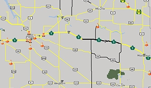 Ice, snow affecting driving conditions