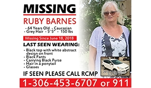 Search for Ruby Barnes this Sunday