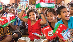 Collection this week for Operation Christmas Child