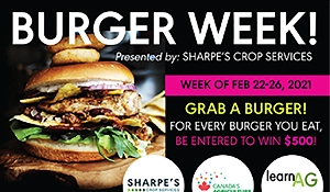Sharpe's Burger Week will run from February 22-26