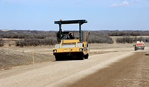 Repaving continues North of Rocanville on Highway 8