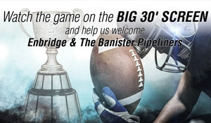 Party will be free to attend: Grey Cup Party, Pipeliner Appreciation this weekend