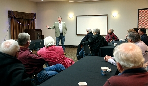 Sask Party candidate Scott Moe visits Moosomin