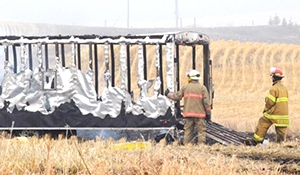 RCMP looking for info on trailer fire west of Stockholm