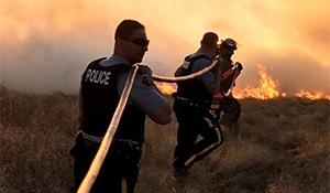 Grass fire at Lumsden