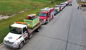 Blue lights and burgers event raises awareness of roadside hazards faced by responders