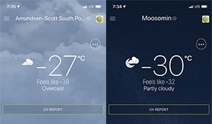 Moosomin colder than the south pole