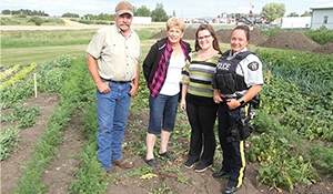 Moosomin Food Share growing a garden for clients